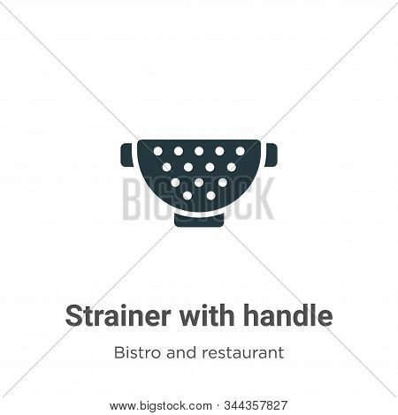 Strainer with handle icon isolated on white background from bistro and restaurant collection. Strain