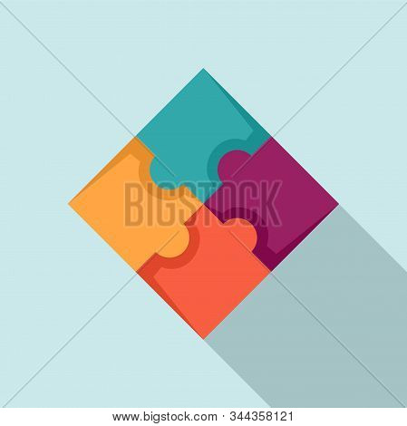 Sequence Puzzle Icon. Flat Illustration Of Sequence Puzzle Vector Icon For Web Design