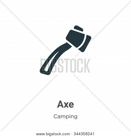 Axe icon isolated on white background from camping collection. Axe icon trendy and modern Axe symbol