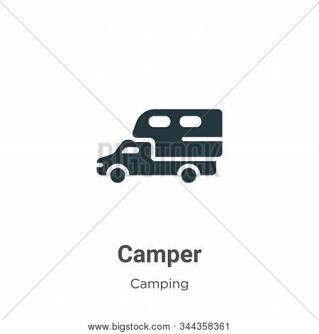 Camper icon isolated on white background from camping collection. Camper icon trendy and modern Camp