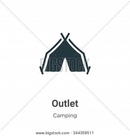 Outlet icon isolated on white background from camping collection. Outlet icon trendy and modern Outl