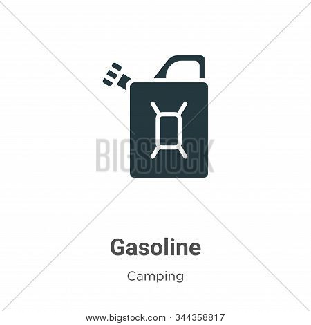 Gasoline Vector Icon On White Background. Flat Vector Gasoline Icon Symbol Sign From Modern Camping