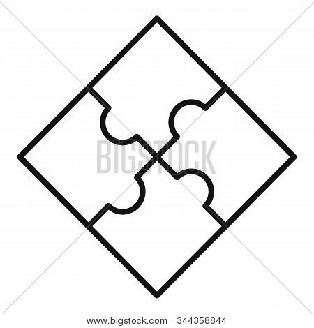 Sequence Puzzle Icon. Outline Sequence Puzzle Vector Icon For Web Design Isolated On White Backgroun