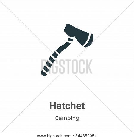 Hatchet icon isolated on white background from camping collection. Hatchet icon trendy and modern Ha