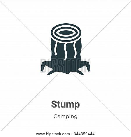 Stump icon isolated on white background from camping collection. Stump icon trendy and modern Stump