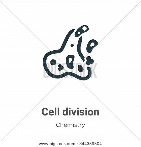 Cell Division Vector Icon On White Background. Flat Vector Cell Division Icon Symbol Sign From Moder