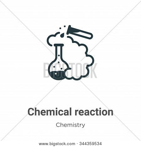 Chemical reaction icon isolated on white background from chemistry collection. Chemical reaction ico