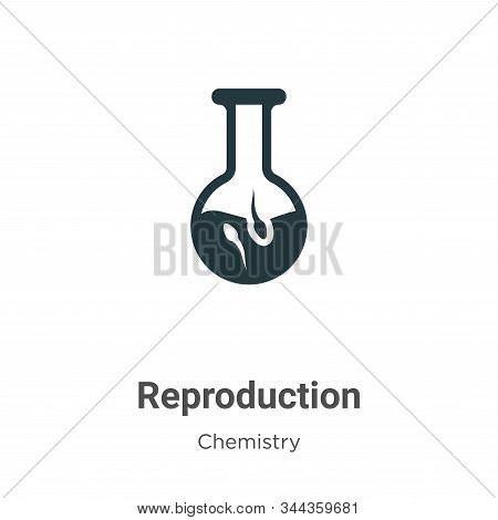Reproduction icon isolated on white background from chemistry collection. Reproduction icon trendy a