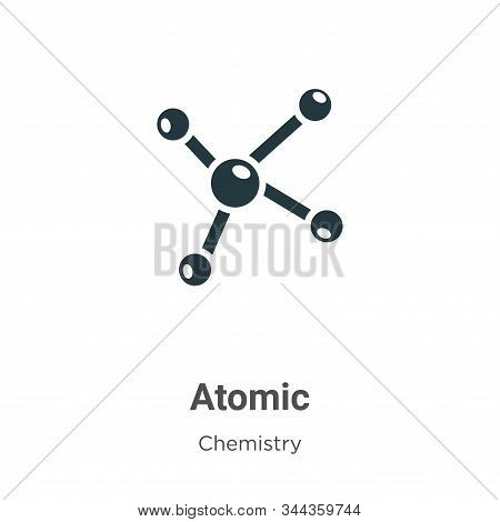 Atomic icon isolated on white background from chemistry collection. Atomic icon trendy and modern At
