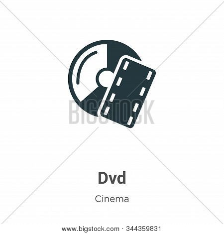 Dvd Vector Icon On White Background. Flat Vector Dvd Icon Symbol Sign From Modern Cinema Collection