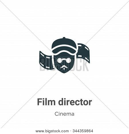 Film director icon isolated on white background from cinema collection. Film director icon trendy an