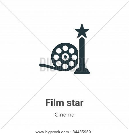Film star icon isolated on white background from cinema collection. Film star icon trendy and modern