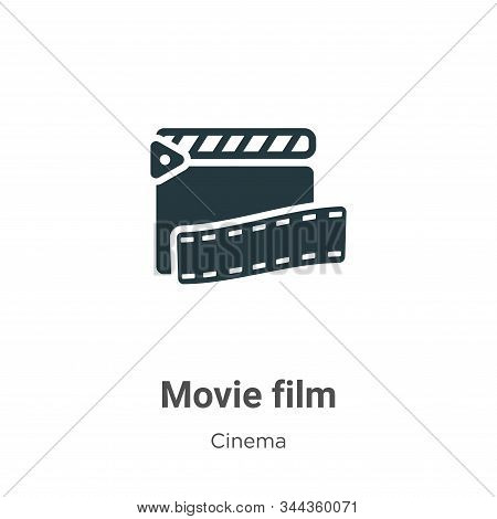 Movie film icon isolated on white background from cinema collection. Movie film icon trendy and mode