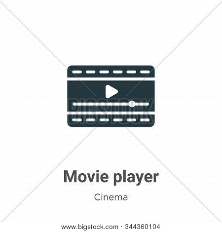 Movie player icon isolated on white background from cinema collection. Movie player icon trendy and