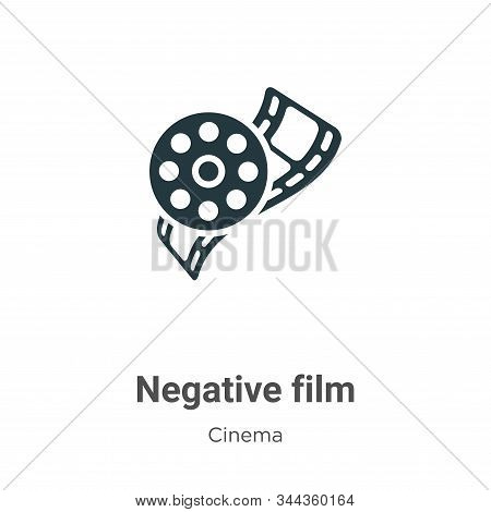 Negative film icon isolated on white background from cinema collection. Negative film icon trendy an