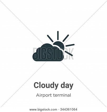 Cloudy Day Vector Icon On White Background. Flat Vector Cloudy Day Icon Symbol Sign From Modern Airp