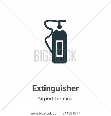 Extinguisher icon isolated on white background from airport terminal collection. Extinguisher icon t
