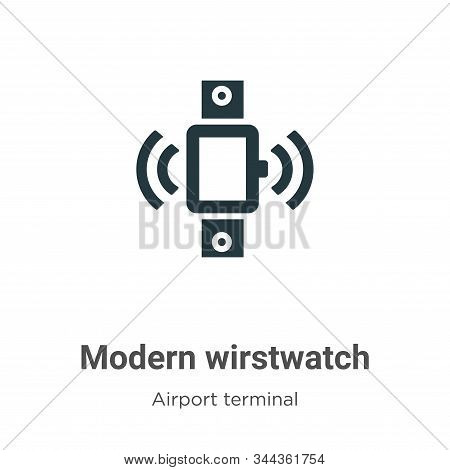 Modern wirstwatch icon isolated on white background from airport terminal collection. Modern wirstwa