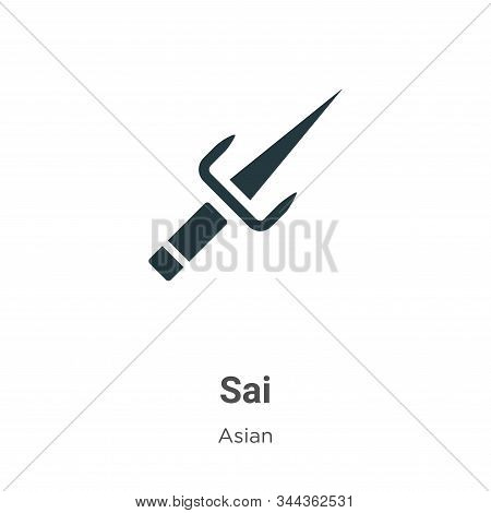Sai icon isolated on white background from asian collection. Sai icon trendy and modern Sai symbol f