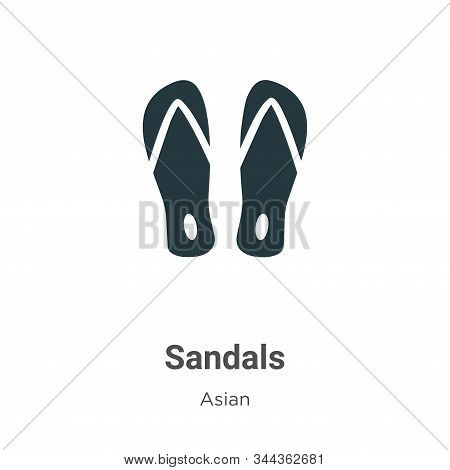 Sandals icon isolated on white background from asian collection. Sandals icon trendy and modern Sand