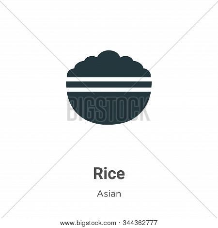 Rice icon isolated on white background from asian collection. Rice icon trendy and modern Rice symbo