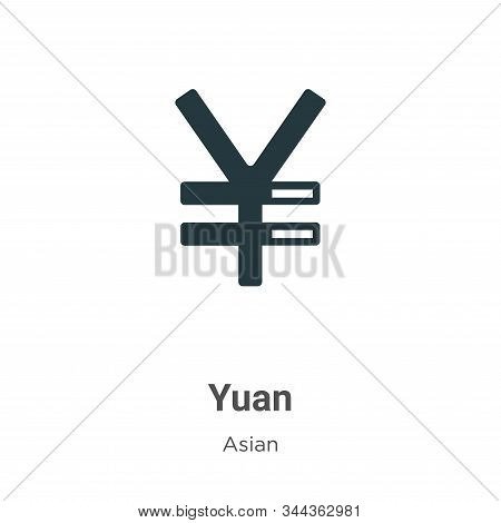 Yuan Vector Icon On White Background. Flat Vector Yuan Icon Symbol Sign From Modern Asian Collection