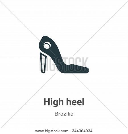 High heel icon isolated on white background from brazilia collection. High heel icon trendy and mode