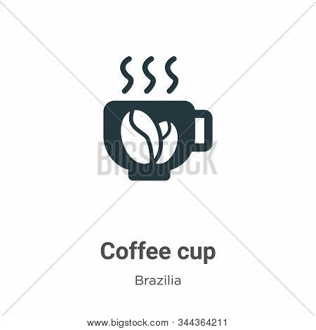 Coffee cup icon isolated on white background from brazilia collection. Coffee cup icon trendy and mo