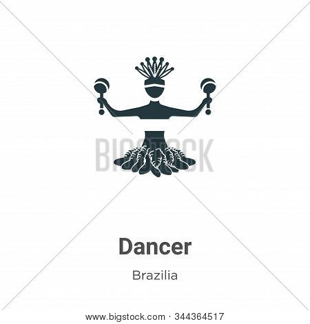 Dancer icon isolated on white background from brazilia collection. Dancer icon trendy and modern Dan