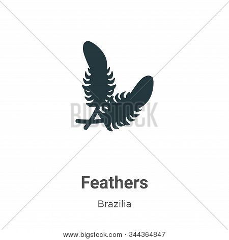 Feathers icon isolated on white background from brazilia collection. Feathers icon trendy and modern