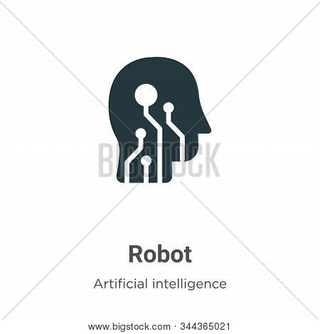 Robot icon isolated on white background from artificial intelligence collection. Robot icon trendy a