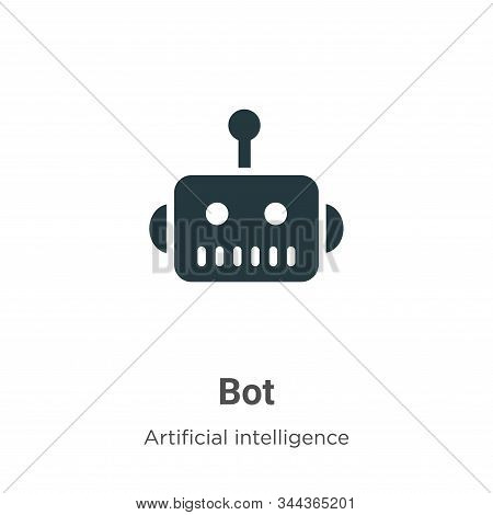 Bot icon isolated on white background from artificial intelligence collection. Bot icon trendy and m