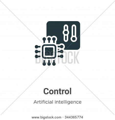 Control icon isolated on white background from augmented reality collection. Control icon trendy and