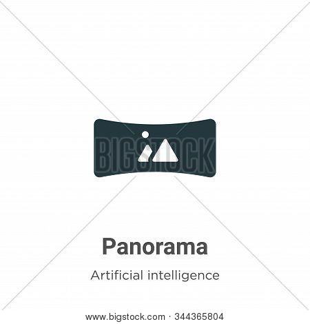 Panorama icon isolated on white background from augmented reality collection. Panorama icon trendy a