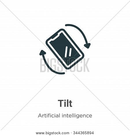Tilt icon isolated on white background from augmented reality collection. Tilt icon trendy and moder
