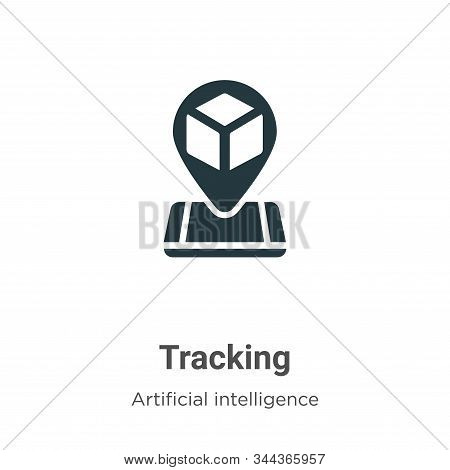Tracking icon isolated on white background from augmented reality collection. Tracking icon trendy a