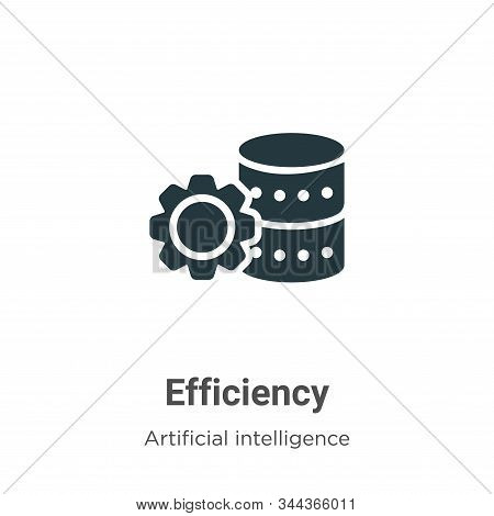 Efficiency icon isolated on white background from big data collection. Efficiency icon trendy and mo