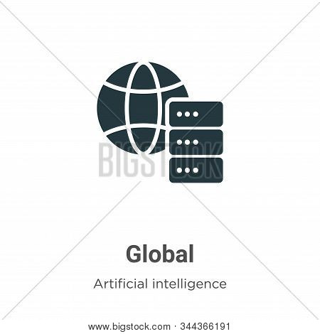 Global icon isolated on white background from big data collection. Global icon trendy and modern Glo