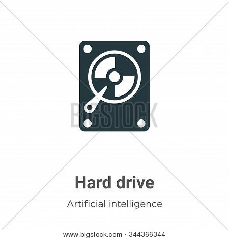 Hard drive icon isolated on white background from big data collection. Hard drive icon trendy and mo