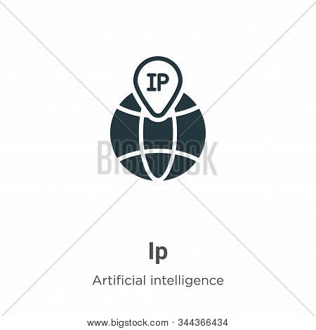 Ip icon isolated on white background from big data collection. Ip icon trendy and modern Ip symbol f