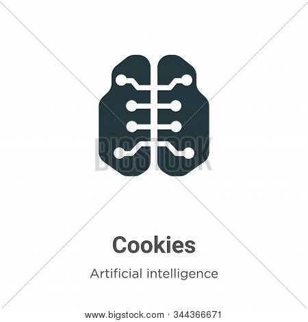 Cookies icon isolated on white background from big data collection. Cookies icon trendy and modern C