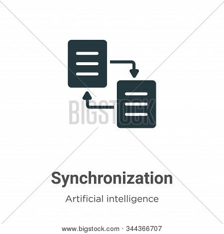 Synchronization icon isolated on white background from big data collection. Synchronization icon tre