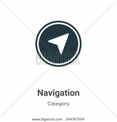 Navigation icon isolated on white background from cursor collection. Navigation icon trendy and mode