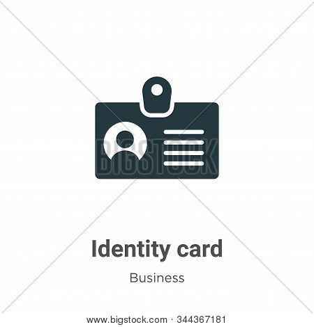 Identity card icon isolated on white background from business collection. Identity card icon trendy