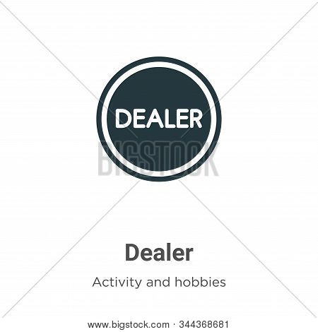 Dealer icon isolated on white background from activity and hobbies collection. Dealer icon trendy an