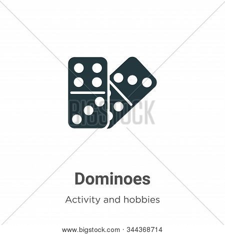 Dominoes icon isolated on white background from activity and hobbies collection. Dominoes icon trend