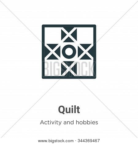 Quilt icon isolated on white background from activity and hobbies collection. Quilt icon trendy and