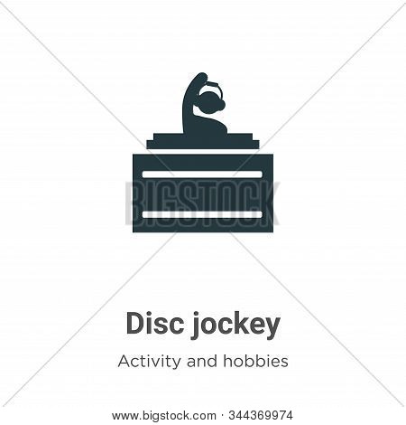 Disc jockey icon isolated on white background from activities collection. Disc jockey icon trendy an