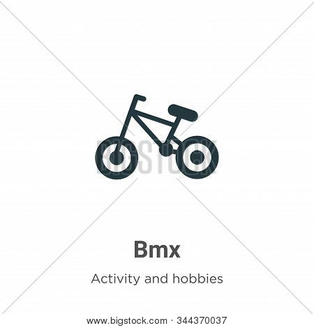 Bmx icon isolated on white background from activities collection. Bmx icon trendy and modern Bmx sym