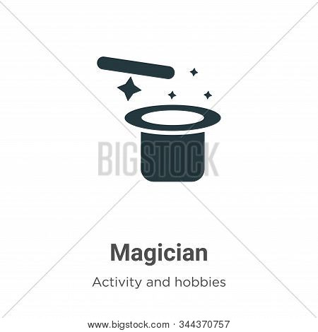 Magician icon isolated on white background from outdoor activities collection. Magician icon trendy